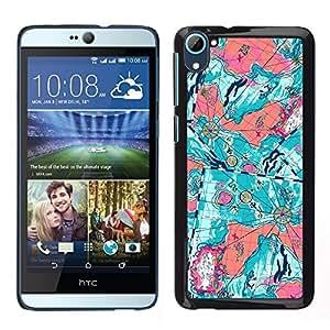 """Pulsar Snap-on Series Teléfono Carcasa Funda Case Caso para HTC Desire D826 , Trullo floral abstracta púrpura Pintura"""""""