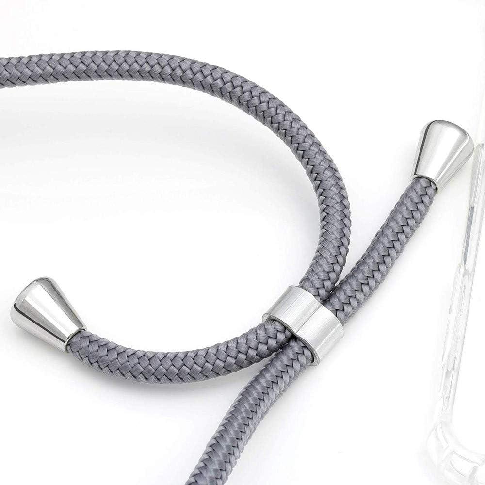 Moda y Practico - Plata Ultrafina Suave TPU Carcasa de movil con Colgante Anti-rasgu/ños Anti-Choque XTCASE Funda con Cuerda para Motorola Moto G5S Silicona Transparente
