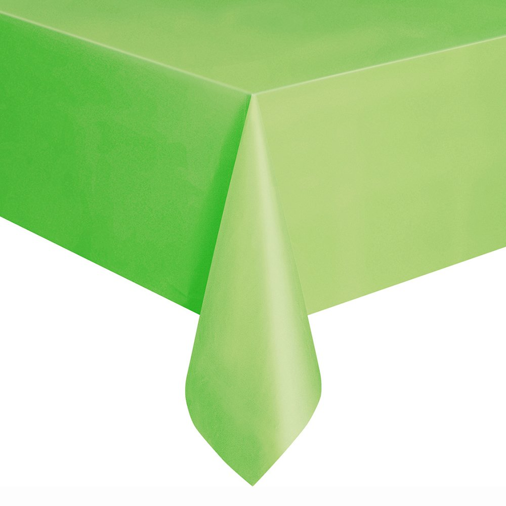 108'' x 54'' Lime Green Plastic Tablecloths, 2ct