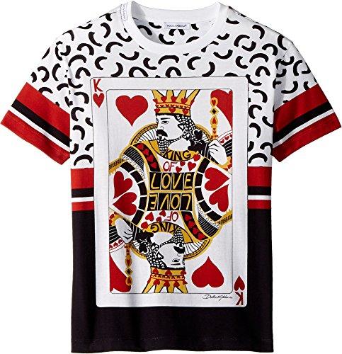 Dolce & Gabbana Kids Boy's King of Hearts T-Shirt (Big Kids) White 10 by Dolce & Gabbana (Image #2)