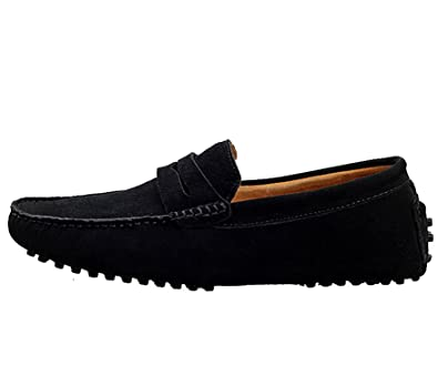 Robert Reyna Fashion Men's Penny Loafers Driving Shoes Slip On Flats Boat Shoes
