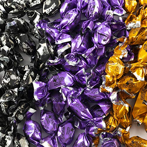 Halloween Candy Combo - Black Orange Purple Color Halloween-Themed Bulk Candies for Party Decoration Individually Wrapped Mini Candies with Fruit-Filled Flavors (Kosher, 3.96 Pounds, About 930 Pieces) for $<!--$17.99-->