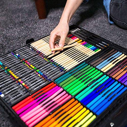 BoTen Watercolor Pen Crayon Color Pencils Painting Portfolio Set (258 Color) by BoTen (Image #4)