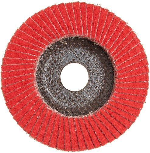 PFERD Polifan SGP CO-COOL Abrasive Flap Disc, Type 27, Round Hole, Phenolic Resin Backing, Aluminum Oxide, 4-1/2 Dia., 40 Grit (Pack of 1) by Pferd ()