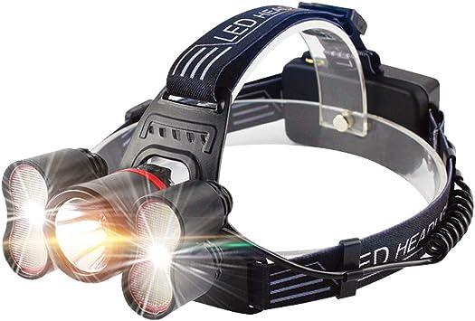 Linterna Frontal Wesho [versión actualizada] Recargable, de luz Super Brillante LED