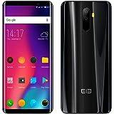 Smartphone Elephone U 4G Sbloccato schermo curvo Android 7.1 4G (Schermo: 5,99 pollici - 6 GB di RAM - Memoria da 128 GB - Doppia SIM Face ID e rilevatore di impronte digitali (nero)