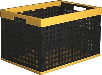 Flippbox, caja de almacenaje, Caja plegable, cesta, caja de plastico plegable - 52 Litros: Amazon.es: Hogar