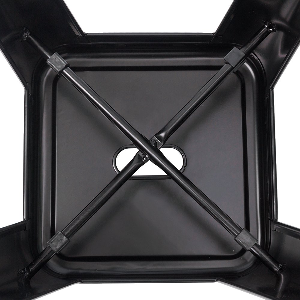 Furmax 30 Inches Black Metal Bar Stools High Backless Stools Indoor-Outdoor Stackable Stools Set of 4 Black