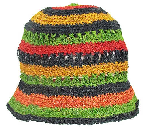 feb1424b09e a2zgift4u Hobo Bohemian Hippie Hemp Summer Outdoor Sun Bucket Hat Handmade  Nepal - Buy Online in UAE.