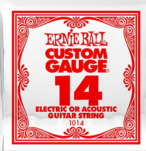 Ernie Ball P01014 Plain Steel Replacement String - .014 Gauge Single String
