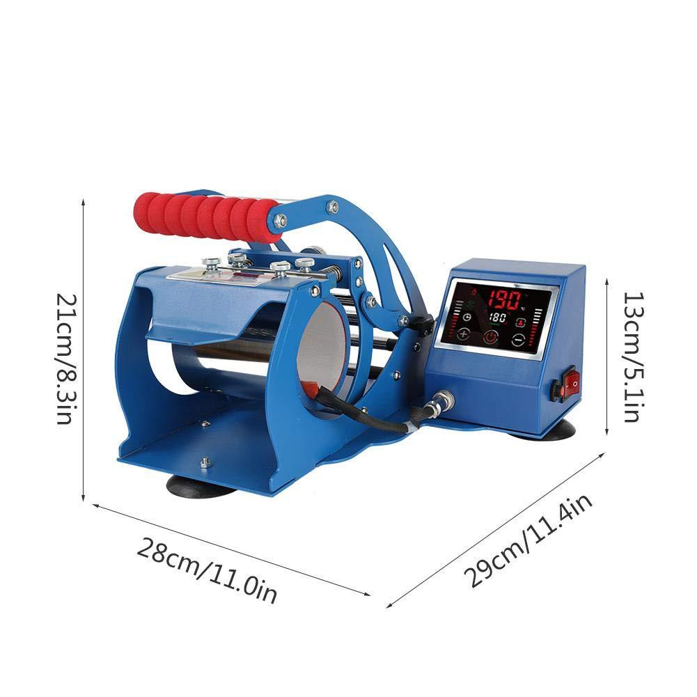 Zoternen Pressa a Caldo per Stampa a Sublimazione con LCD Display Digitale 110-220V Press Heat Machine Mug per Tazze Nero Regolazione Automatica della Temperatura