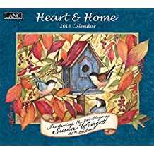 "Lang Wall Calendar ""Heart & Home"" Artwork by Susan Winget-12 Month-Open 13 3/8"" X 24"""