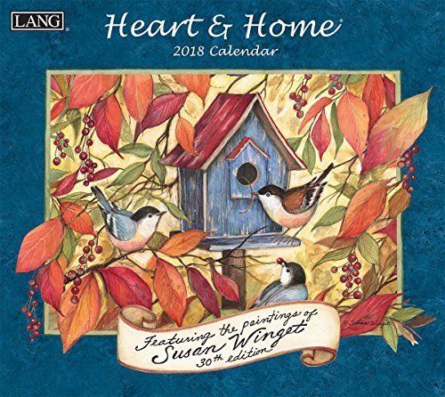 "LANG - 2018 Wall Calendar - ""Heart & Home"", Artwork by Susan Winget - 12 Month - Open 13 3/8"" X 24"""