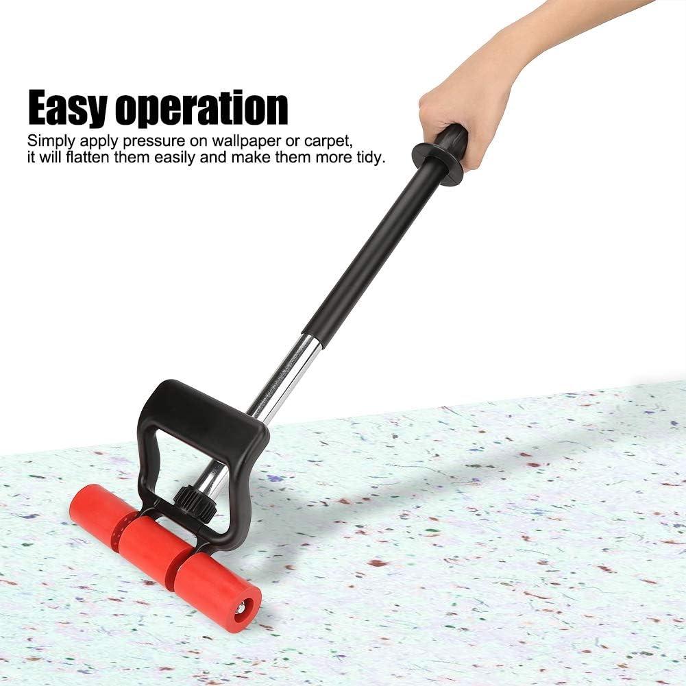 tapis plat tapis Rouleau en caoutchouc 1 rouleau en m/étal noir et rouge avec poign/ée extensible pour mur de sol