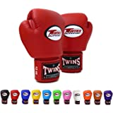 Twins Special Boxing Gloves BGVL3 Purple Size 8 10 12 14 16 oz Universal All Purposes Training Sparring Gloves for Muay Thai Kick Boxing MMA K1 Tight Fit Design with vectro straps Purple, 16 oz