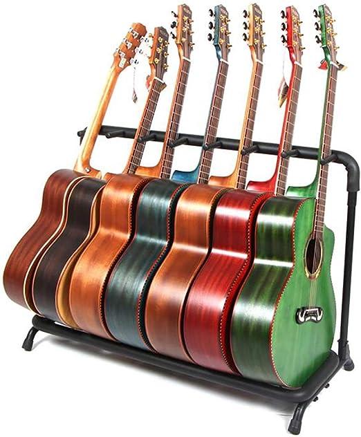 Soporte de teclado Soporte de soporte de guitarra Soporte de exhibición de guitarra Soporte de instrumento musical Guitarra eléctrica 3/5/7 Estante de guitarra universal bajo (Tamaño : 97*30*70CM) : Amazon.es: Hogar