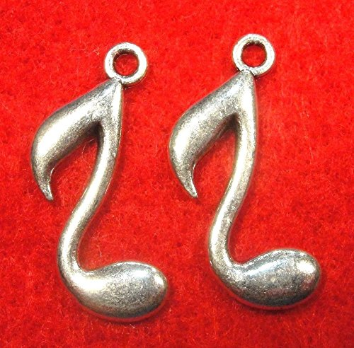 50Pcs. Wholesale Tibetan Silver Musical Note Charms Pendants Earring Drops Q0151 Crafting Key Chain Bracelet Necklace Jewelry Accessories Pendants