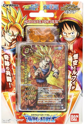 Super Warriors deck and Miracle Battle Carddas Piece Dragon Ball Kai pre-built deck pirate (japan import)