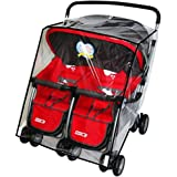 KarleksLiv Universal Waterproof Twins Baby stroller Rain Cover Side by side Double Pushchair dust proof cover Baby Carriage Pram Accessories Stroller Raincover
