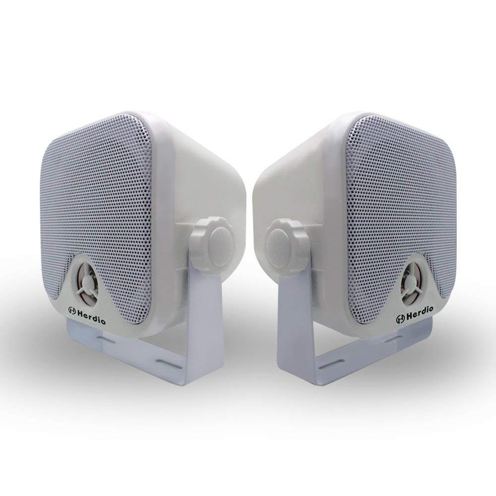 Marine Box Lautsprecher Wasserdichte Stereo Boot Lautsprecher Wandmontage 2 Way 100 W Weiß Farbe IP66 4 Zoll Herdio FBA-MXS-61W