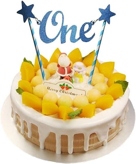 Super Happy Birthday 1St Cake Topper Glitter One Decorating Straws Personalised Birthday Cards Paralily Jamesorg