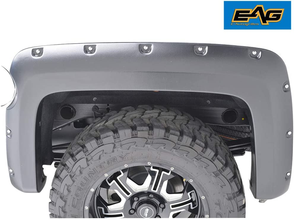5.9 Ft. Bed EAG Front and Rear Fender Flares Pocket Style Fit for 14-18 Chevrolet Silverado 1500