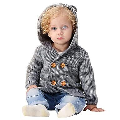 new product 2d649 4e6d1 Kword Bambino Cappotto Lavorato A Maglia, Bambini Ragazzi ...