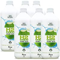 H2coco Pure Coconut Water 2 Litre (Pack of 6), 12 l, Pure Coconut Water