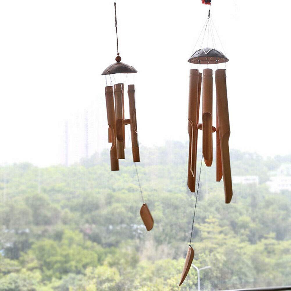 Poitwo per terrazza Campanello a Vento in bamb/ù Giardino Ornamento Fatto a Mano Decorazione Interna Small