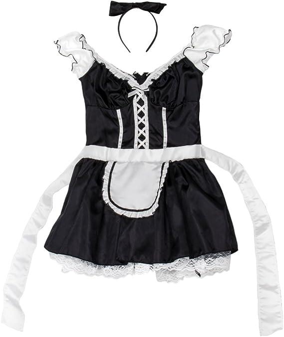 Amazon.com: French Maid Disfraz de Halloween para mujer ...