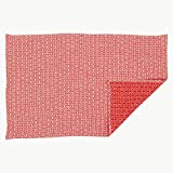 Artek TEA TOWEL H55, White/Red - 28 x 20 inches & 70 x 50 centimeters