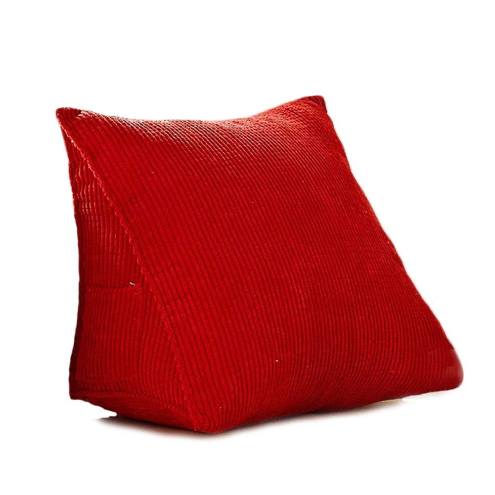 31x7.9x19inch Red 80*25*50cm Vercart divano letto grande riempito triangolare cuneo cuscino letto schienale posizionamento cuscino di sostegno lettura ufficio cuscino lombare cuscino sfoderabile