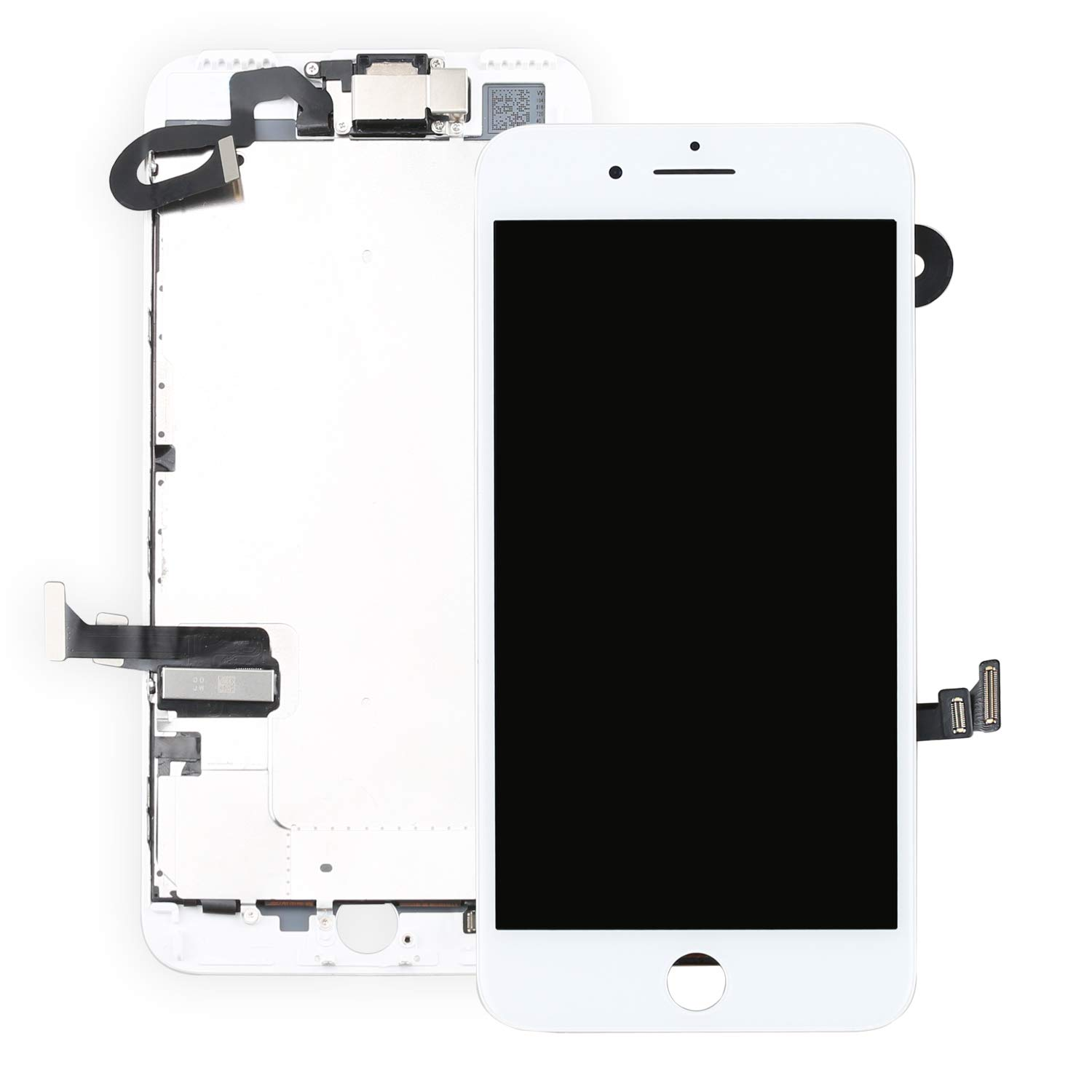 for iPhone 7 Plus 5.5'' Screen Replacement White- Ayake Full LCD Display Assembly with Front Facing Camera, Earpiece Speaker Pre Assembled and Repair Tool Kits