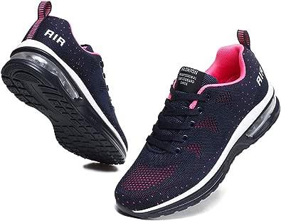 BUBUDENG Zapatillas Casual para Deporte Mujer de Senderismo para Mujer, de Malla Ligera, Transpirables, cómodas Zapatos para Caminar Mesh Running Transpirable Aumentar Más Altos Sneakers