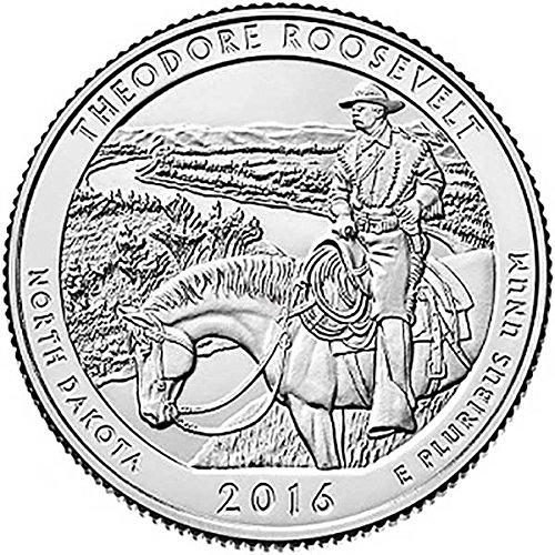 (2016 P, D, S 3 Bankrolls of 40 - Theodore Roosevelt, ND National Park Quarter Uncirculated)