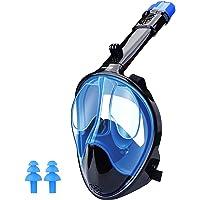 WANFEI Máscara de Buceo, 180° Máscara de Snorkel Doble Vía Aérea Panorámica Gafas Buceo de Cara Completa Gafas de Bucear…