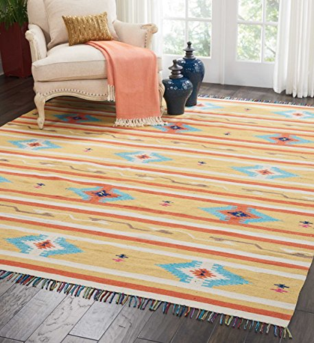 Nourison BAJ03 Baja Tribal Area Rug 6 9 Feet 6 Inches, 6'6