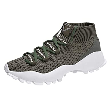 786614bf421e9 DENER❤ Men High Top Sneakers, Knitted Mesh Breathable Wide Width ...