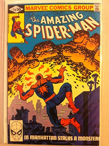 Spiderman #218 Monster stalks Manhattan Jul 81 NO MAILING LABEL Near-Mint (7 out of 10) Very Lightly Used by Mickeys Pubs
