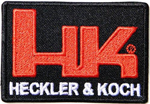 HK HECKLER & KOCH Handguns Rifle Pistol Gun Shotgun Firearms Knife Logo Jacket T shirt Patch Sew Iron on Embroidered Symbol Badge Cloth Sign By Prinya Shop
