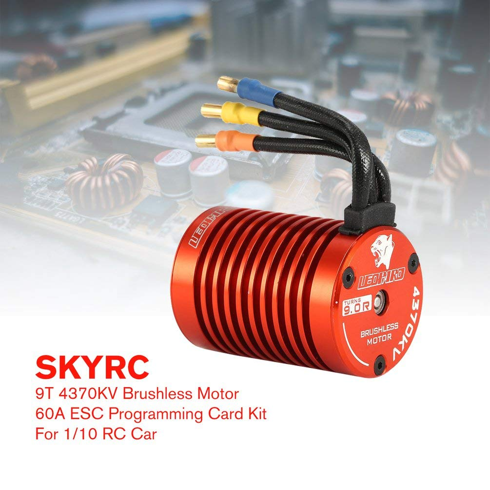 Oyamihin SKYRC SK-300042-02 9 T 4370KV Brushless Motor 60A 60A 60A Brushless ESC Programmierung Karte Combo Set für 1 10 RC Auto LKW b09ec7
