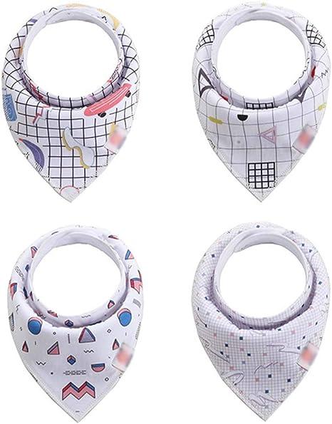 Second Sunny 4 Pack Baberos para niñas Súper Absorbente Algodón Puro Pañuelo Elegante/Babero para bebés y niños pequeños,Style4: Amazon.es: Deportes y aire libre