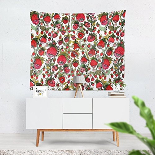 Strawberry Friends Large Colorful Abstract Wall Art Tapestry Kids Room Nursery Decor