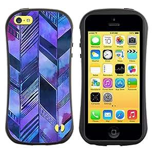 "Hypernova Slim Fit Dual Barniz Protector Caso Case Funda Para Apple iPhone 5C [Arquitectura Bosquejo púrpura""]"