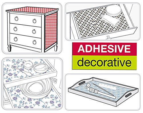 Contact Paper Floral Self Adhesive Decorative Shelf Liner Decorative Wallpaper Stick and Peel for Kitchen Cabinets Drawers Shelves Countertops Windows Walls Crafts 17.7