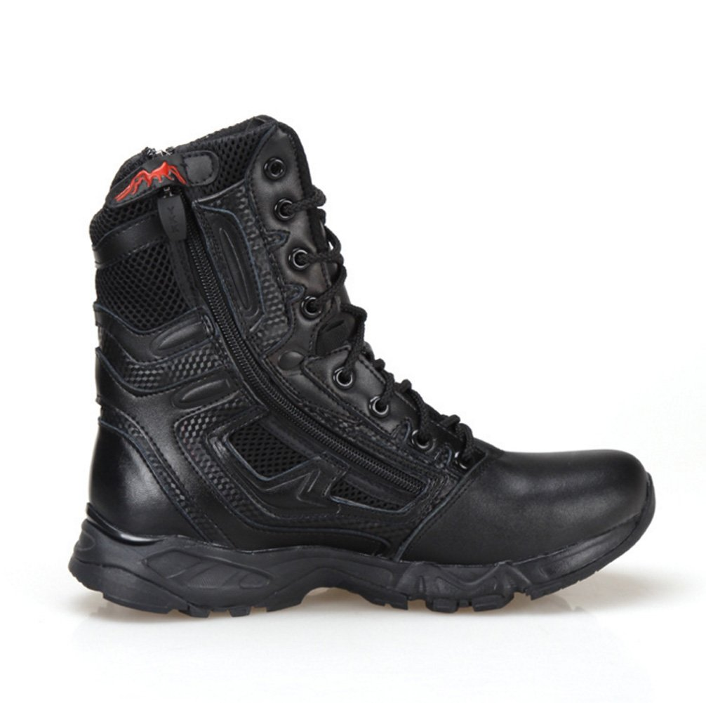 BE DREAMER Mens Lightweight Tactical Side-Zipe Boots,Black,US 10 by BE DREAMER (Image #2)
