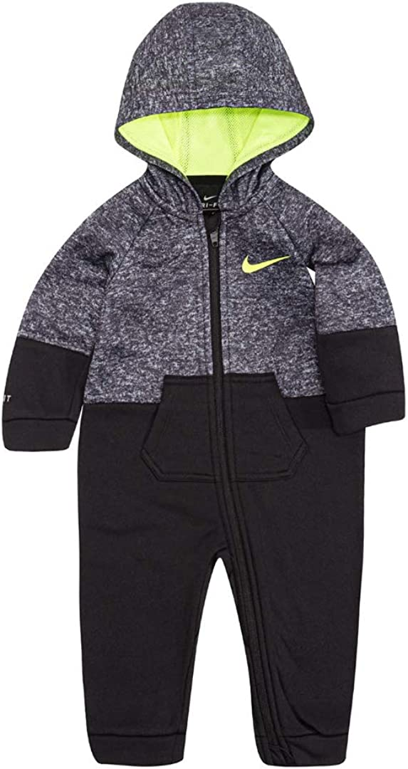Hooded Striped Therma-FIT Coverall Nike Baby Boys 1-Pc