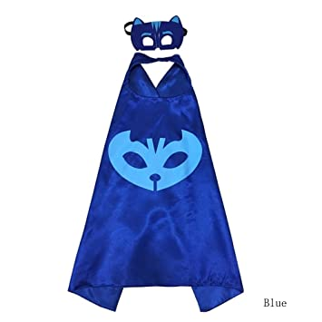 Bearfire New Superhero PJ Masks Cape/Mask Set Gekko Owlette Catboy Kids Costume Party (