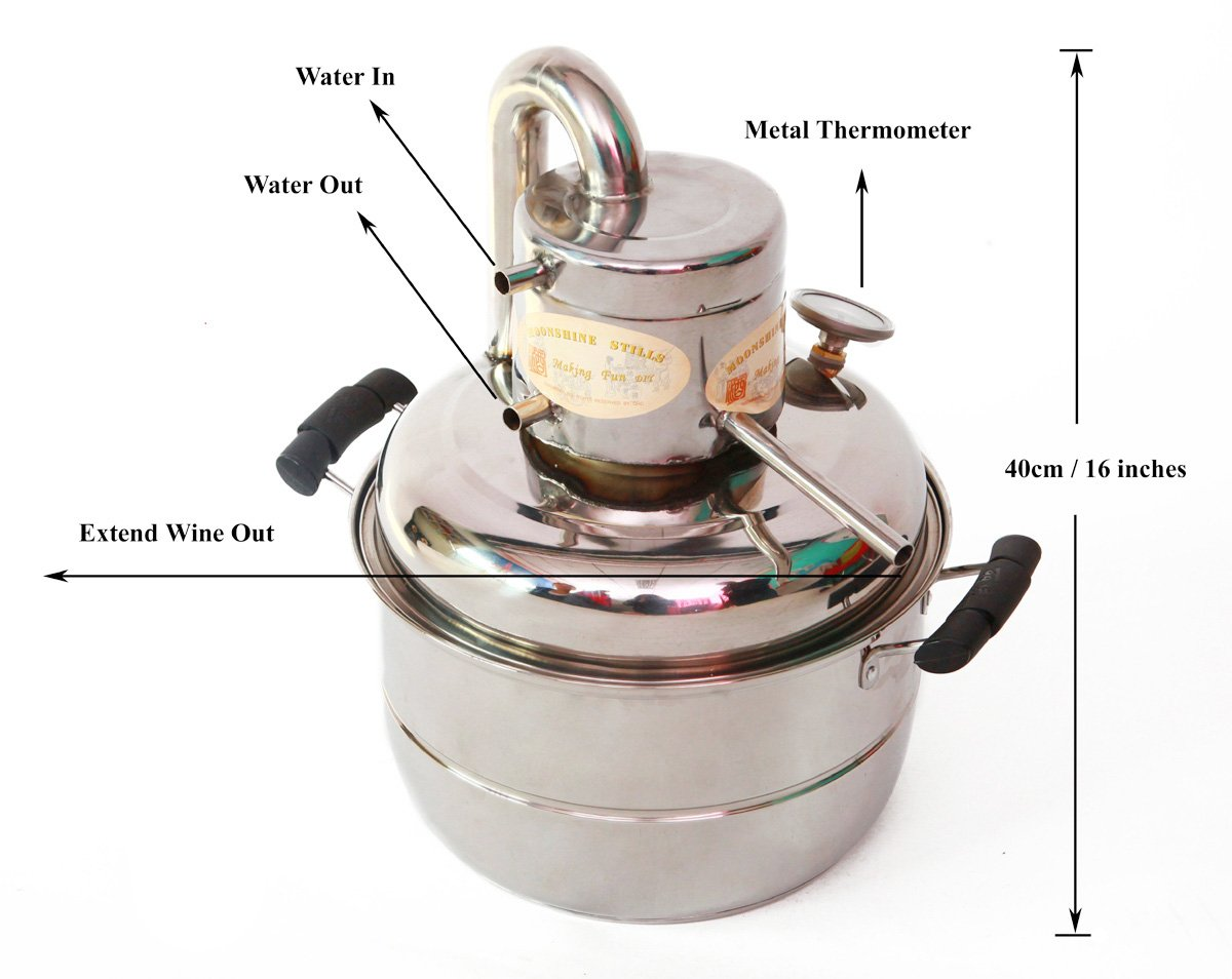 2 GaL 10L Alcohol Distiller Home Brewing Kit Moonshine Still Wine Spirits Boiler With Free Pump by WMN_TRULYSTEP (Image #2)
