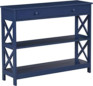 Convenience Concepts Oxford 1 Drawer Console Table, Cobalt Blue